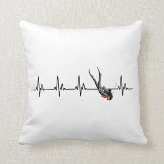 Ladies SCUBA Diving Heartbeat Cushion