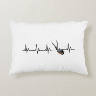 Ladies SCUBA Diving Heartbeat Decorative Cushion