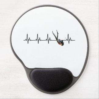 Ladies SCUBA Diving Heartbeat Gel Mouse Pad