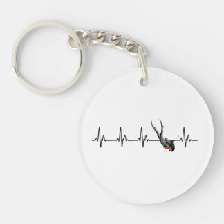 Ladies SCUBA Diving Heartbeat Key Ring