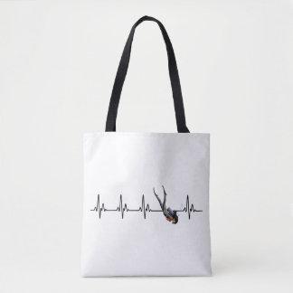 Ladies SCUBA Diving Heartbeat Tote Bag