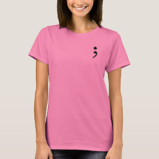 Ladies Short Sleeve SemiColon T-shirt