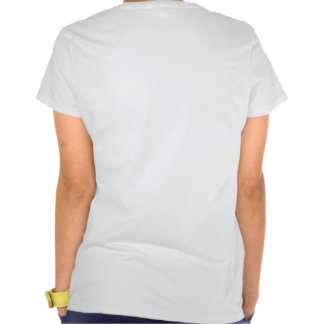 Ladies Spaghetti Top (Fitted): White Tee Shirt