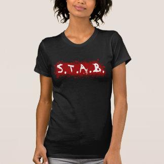 Ladies STAB Splatter Tee - Black