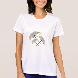 Ladies Summer Day Micro-Fiber T-Shirt White