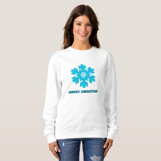 Ladies Sweatshirt Christmas Snow Flakes