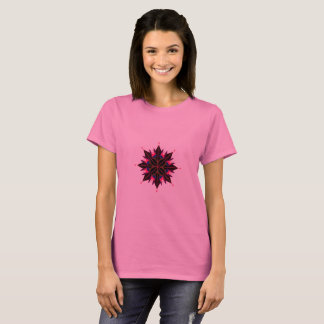 Ladies t-shirt pink with mandala