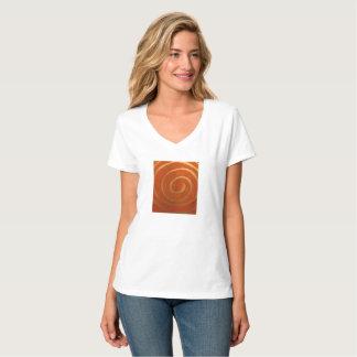 Ladies t-shirt with ancient sun design