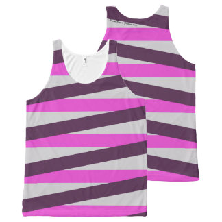 Ladies Tank Top with Bold Stripes