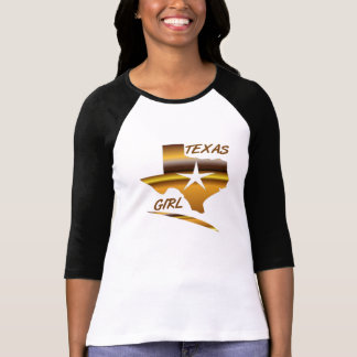 LADIES TEXAS GIRL 3/4 SLEEVE fitted T-Shirt