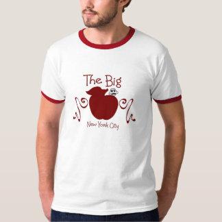 LADIES THE BIG APPLE RINGER T-SHIRT