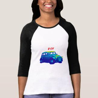 Ladies Three-Quarter Sleeve Raglan (Fitted), 2cv T-Shirt