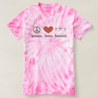 Ladies Tie Dye Peace Love Bernie Tees
