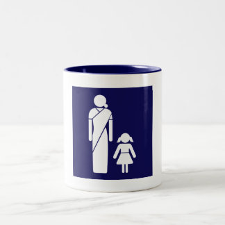 Ladies' Toilet Sign, India Two-Tone Mug