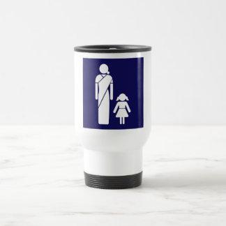 Ladies' Toilet Sign, India Stainless Steel Travel Mug