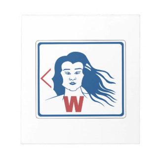 Ladies' Toilet Sign, Thailand Memo Pad