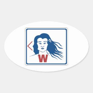 Ladies' Toilet Sign, Thailand Oval Sticker