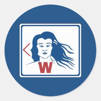 Ladies' Toilet Sign, Thailand Round Sticker
