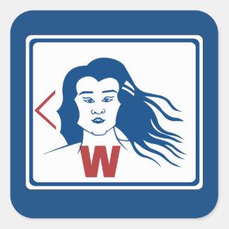 Ladies' Toilet Sign, Thailand Square Sticker