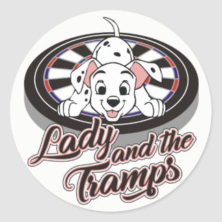 Ladies, Triples And Tramps Darts Team Classic Round Sticker