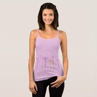 Ladies tshirt : folk ornaments / lavender
