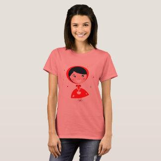Ladies tshirt with Red princess