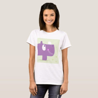 Ladies tshirt with Rhino