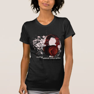 Ladies Twofer Sheer T-Shirt CTN MUSIC / Chocolate
