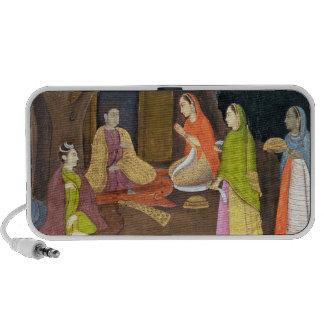 Ladies visiting a Yogini, School of Faqurullah Kha Travelling Speakers