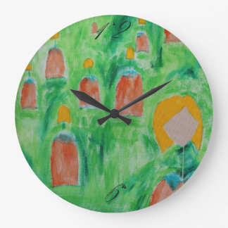 Ladies Walking Circle Clock 2