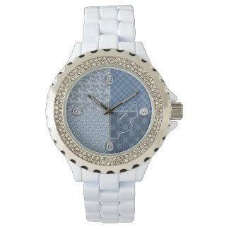 Ladies Watch - Quilt/Patch/Blues - Needle/Thread,