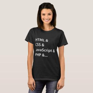 Ladies' Web Coder Black T-shirt