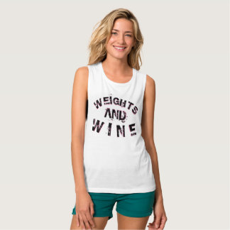 Ladies Weights & Wine Muscle Workout Top Gym