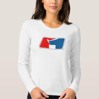 Ladies White Long-Sleeved STUMP Logo Tee