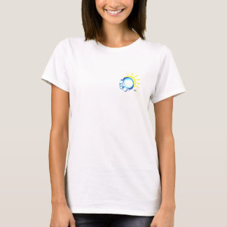 Ladies White Small t with Logo T-Shirt