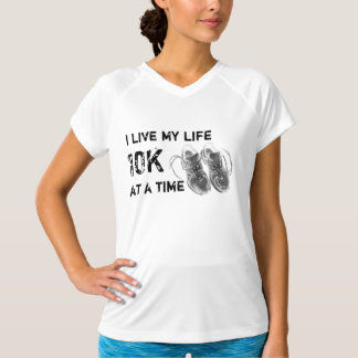 Ladies' Wicking No-Sleeve - Life 10K at a time T-Shirt