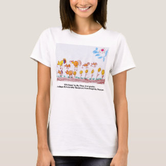 "LADIES YELLOW BABY T-SHIRT, ""Chickens""  T-Shirt"