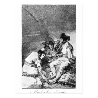 Lads getting on with the job by Francisco Goya Postcard
