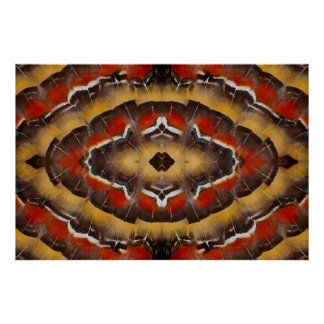 Lady Amherst's Pheasant Feather Design Poster