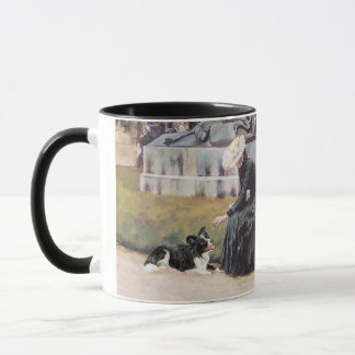 Lady and Border Collie in Park Mug