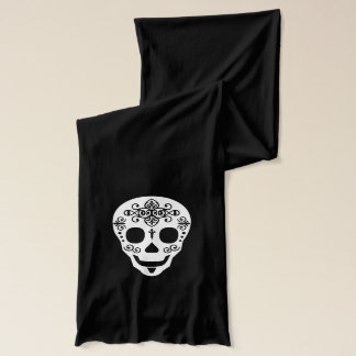 Lady and Gent Sugar Skull by Leslie Peppers Scarf