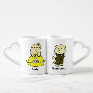 Lady and Gentleman Coffee Mug Set