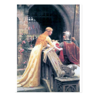 Lady and Knight castle Postcard