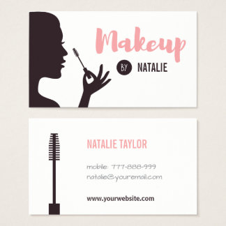 Lady and Mascara Makeup Artist Business Cards