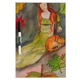 Lady and The Fox Dry Erase Board