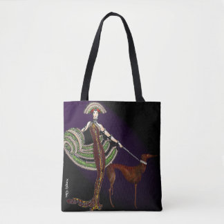 Lady and the Hound Tote Bag