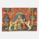 Lady and the Unicorn Mediaeval Tapestry Art Tea Towel