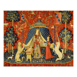 Lady and the Unicorn Medieval Tapestry Art