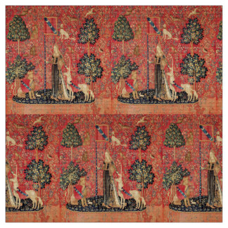LADY AND UNICORN Lion,Fantasy Flowers,Animals Fabric