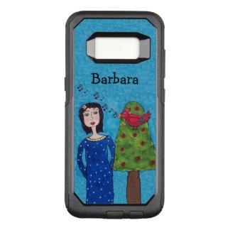 Lady Apple Tree Singing Red Bird Yellow Star OtterBox Commuter Samsung Galaxy S8 Case